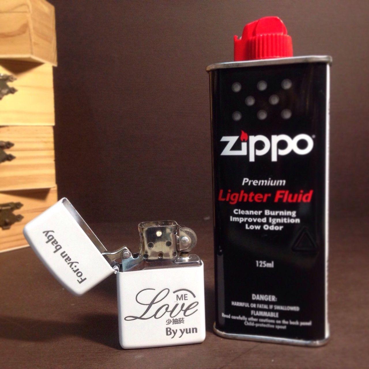 男人必備裝備組【單面打火機+zippo補充油】